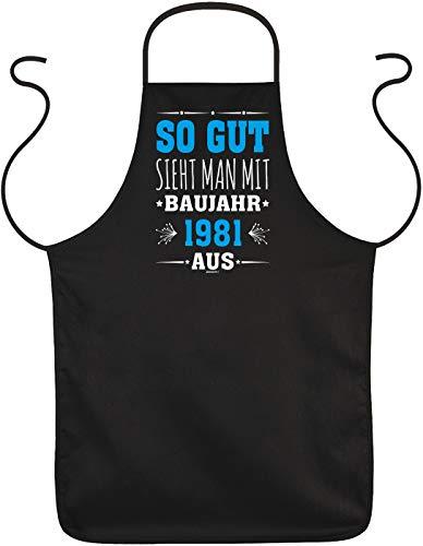 trag-das lustige Grillschürze Kochschürze als Geschenk zum 40. Geburtstag 40 Jahre Männer Grill Schürze Papa Mama witziger Grillzubehör
