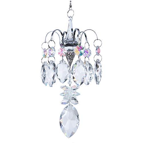 H&D HYALINE & DORA Crystals Horse Eye Prisms Suncatcher Hanging Ornament Rainbow Maker Hanger for Home,Garden Decoration