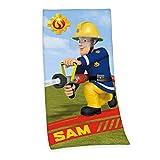 Herding SAM LE POMPIER Serviette de Bain, 150 x 75 cm, Coton, Multicolore