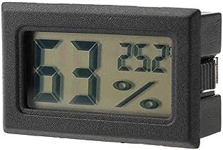 GXT Higrómetro Monitor de Temperatura de Humedad del termómetro de higrómetro Digital incrustado con sonda incorporada (Color : Black)