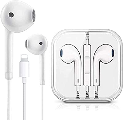 Light^ning Connector Earbuds Earphone Headset Wired Headphones with Mic and Volume Control,Compatible with Apple iPhone 12/11 Pro Mini XS/X Plus 8/7/6 Plug and Play
