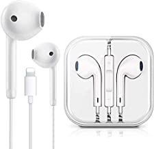 Lighting Connector Earbuds Earphone Wired Headphones Headset with Mic and Volume Control,Compatible with Apple iPhone iPhone 12/12 Pro/12 Pro Max/11 Pro Max/Xs Max/XR/X/7/8 Plug and Play Disc Cleaners