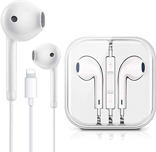 Light^ning Connector Wired Headphones Earbuds Earphone Headset with Mic and Volume Control,Compatible with Apple iPhone 12/11 Pro Max XS/X Plus 8/7/6 Plug and Play