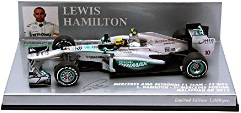 artículos novedosos Minichamps Mercedes AMG AMG AMG Petronas F1 Team W04 No.10 1 de Mercedes podio GP de Malasia 2013 (Lewis Hamilton)  wholesape barato