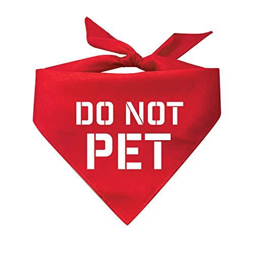 Do Not Pet Reminder COVID-19 Coronavirus Keep Distance Quarentine Printed Dog Bandana (Assorted Colors)