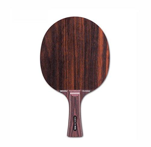 7capa híbrida palisandro tenis de mesa hoja para espinillas en goma rápida Loop raqueta de Ping Pong Paddle, black Sandalwood