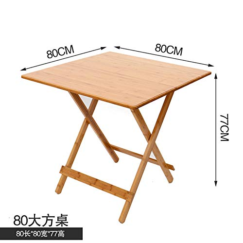DX klaptafel eenvoudige vierkante tafel bamboe huis vrije tijd tafel volledig gezicht 80 vouwen vierkante tafel
