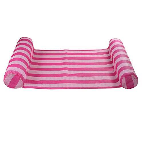 ZHANGNING Hamaca con mosquitera 132 * 70 cm Verano Inflable Piscina Sillón Sillón Sports Wandering Hammock Hamaca aérea de Camping (Color : Pink)