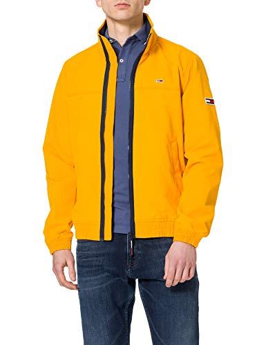 Tommy Jeans TJM Essential Casual Bomber Chaqueta, Florida Naranja, M para Hombre