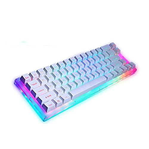 Mmbh Base de interruptores de retroiluminación de RGB de Keyboard de Juego mecánico para PC portátil (Axis Body : Red Switch, Color : Womier k66)