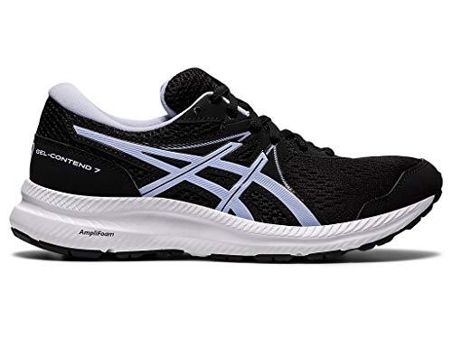 ASICS Women s Gel-Contend 7 Running Shoes  8  Black/Lilac Opal