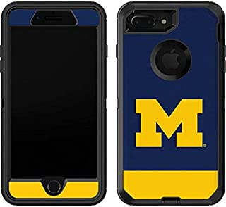Skinit University of Michigan Logo OtterBox Defender iPhone 7 Plus Skin for CASE - Officially Licensed College Skin for Popular Cases Decal - Ultra Thin, Lightweight Vinyl Decal Protection