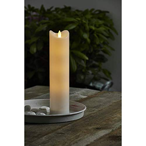 Kamaca Outdoor LED Candle Battery Operated with Flickering Timer Candle for Indoor and Outdoor Use (1 Candle 7 x 30 cm)