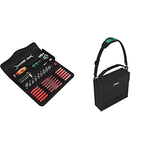 Wera 05135926001 KK W 1 Kraftform Kompakt W1 Wartung, Werkzeug-Set, 35-teilig, Schwarz, Stück & 2go 2 Werkzeug-Container, 3-teilig, 1 Stück, 05004351001