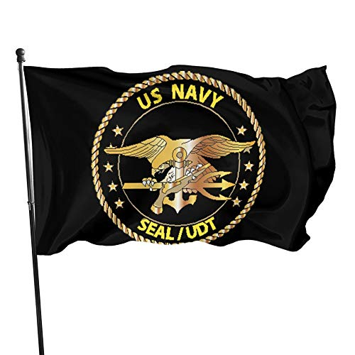 HUZEIMINniu Us Navy Seal -Udt Flag 3x5 Ft Outdoor Flag Garden Flag Home Flag Yard Flags Banner Breeze Flag