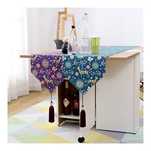 Xiaoxiaoyu tafelkleed tafelvlag katoen linnen kunsttafelslapers land cartoon kerst eland tafelvlag kan groothandel zijn