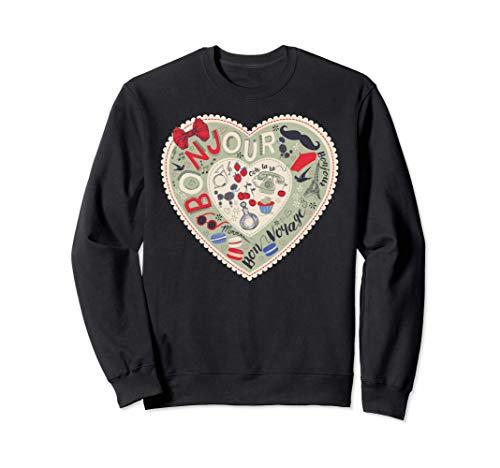 Paris France Tour Eiffel Souvenir Français Vintage Cadeau Sweatshirt