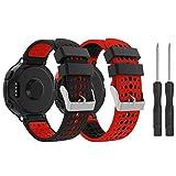 Yayuu Compatible con Forerunner 235 Correa de Reloj, Banda de Reemplazo Silicona Suave Sports Pulsera para Forerunner 235/220/230/620/630/735XT Smart Watch (B1, 2 Paquete)