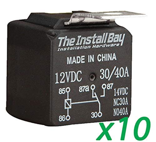 The Install Bay by Metra 10 Pack Economy 12 Volt 30/40 Amp Relay 12V 30A / 40A