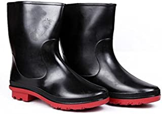 Hillson HLSN_DON_9 Don Safety Gumboots, With Lining, Red, UK Size 9