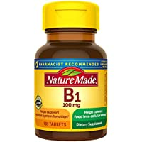200-Count Nature Made Vitamin B1 Metabolic Health 100 mg Tablets
