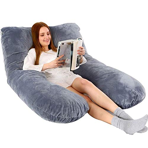 XiuLi Pregnancy Body Pillow U Shaped Memory Foam Full Body Pillow Maternity Best Contoured Pillow 70x130cm