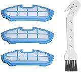 WEYO Juego de 3 Filtros Hepa Robot Aspirador Para Cecotec Conga 990 Robot Aspiradora Recambio kit de accesorios 3 filtros Hepa