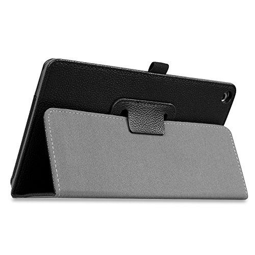 Fintie Huawei Mediapad T3 8 Hülle Case - Ultra Schlank Kunstleder Folio Schutzhülle Etui Tasche Case Cover mit Standfunktion für Huawei MediaPad T3 8 20,3 cm (8,0 Zoll) Tablet-PC, Schwarz - 5