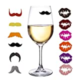 Aeroway Silicone Drink Marker,12 pcs-6 for Him & 6 for Her