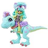 Cave Club GTL69 - Rockelle Puppe & Tyrasaurus Figur Spielset, Dinosaurierfigur und Zubehörteile, Spielzeug ab 4 Jahren