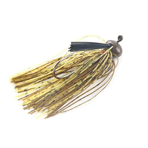 sunnyflowd 1Pcs 12g Spinnerbait Large Mouth Bass Fish Metal Bait Sequin Beard Pike Fishing Tackle Rubber Jig Soft Fishing Lure