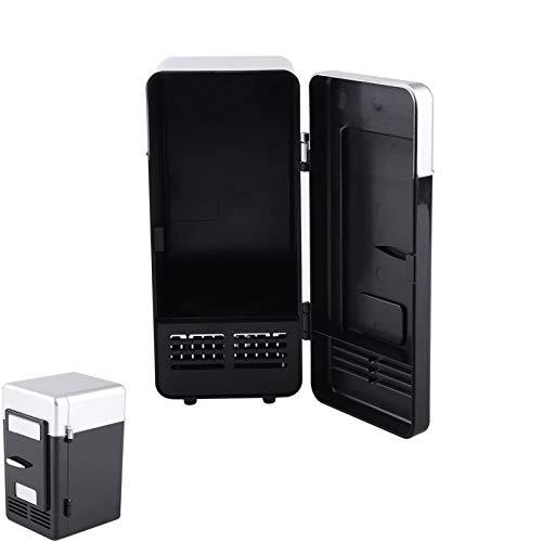 Dlovey Réfrigérateur De Voiture USB Mini Réfrigérateur-Portable Compact Réfrigérateur-Boissons Canettes De Boisson, Réfrigérateur, Chauffage,Noir