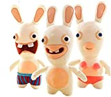 JSBVM Decor Plush Toy Rayman Raving Rabbids Kawaii Rabbit Plush Animation Animal Rabbit Kids 25cm PP Cotton Rag Dolls for Children Girls Gift