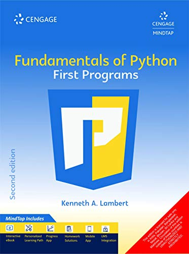 Fundamentals of Python First Programs with MindTap, 2E