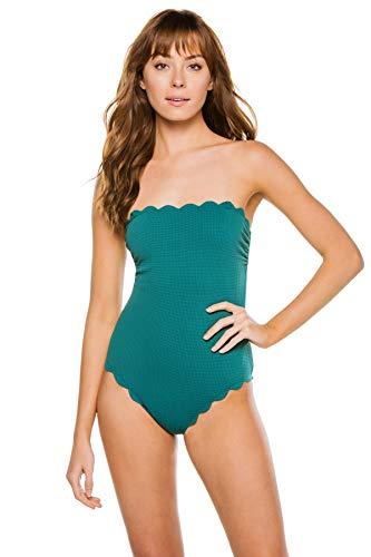Marysia Women's Santa Clara Scallop Bandeau One Piece Swimsuit Pacific XS
