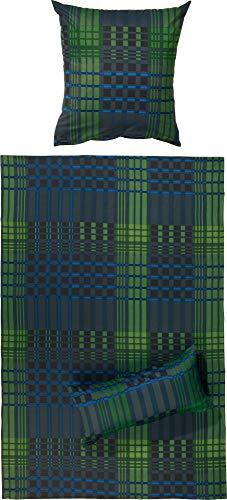 REDBEST Bettwäsche, Bettbezug Renforcé, 100% Baumwolle grün Größe 135x200 cm (80x80 cm) - weich, hautfreundlich, atmungsaktiv, strapazierstark, mit Reißverschluss (weitere Farben, Größen)