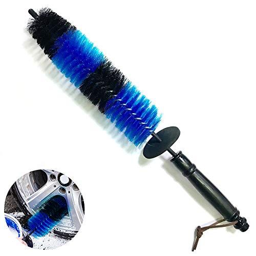 1pc Rueda escobillas de vehículos de cepillo de lavado Llanta Neumático cepillo de limpieza Detalle Detalle rueda de cepillos para el coche (azul)