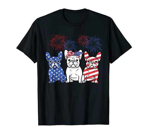 French Bulldog American Flag 4th Of July Independence Day T-Shirt