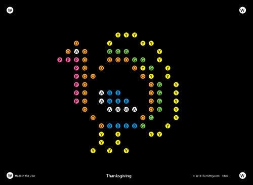 IllumiPeg Holiday Refill templates for Basic Fun Lite Brite Magic Screen (12 Sheets, 6x8)