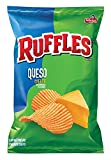 Ruffles Queso, Cheese Flavored Potato Chips, 1.125 Ounce (Pack of 64)