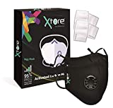 Xtore® N-95 / PM2.5 Premium Anti Pollution Mask | Replaceable Filter | FDA CE Certified | Washable - (Pack of 2 Mask, 4 Filters)