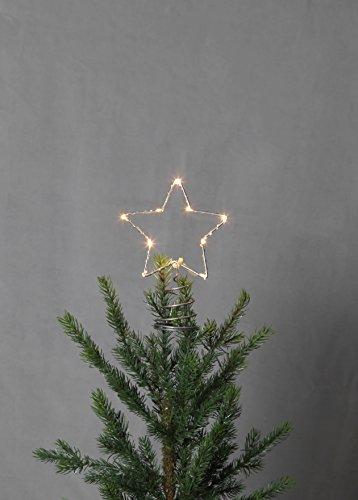 Kamaca Magisch leuchtende Weihnachtsbaum Spitze TOP Star mit Timer Batteriebetrieben 10 LED (20 x 14 Spirale)