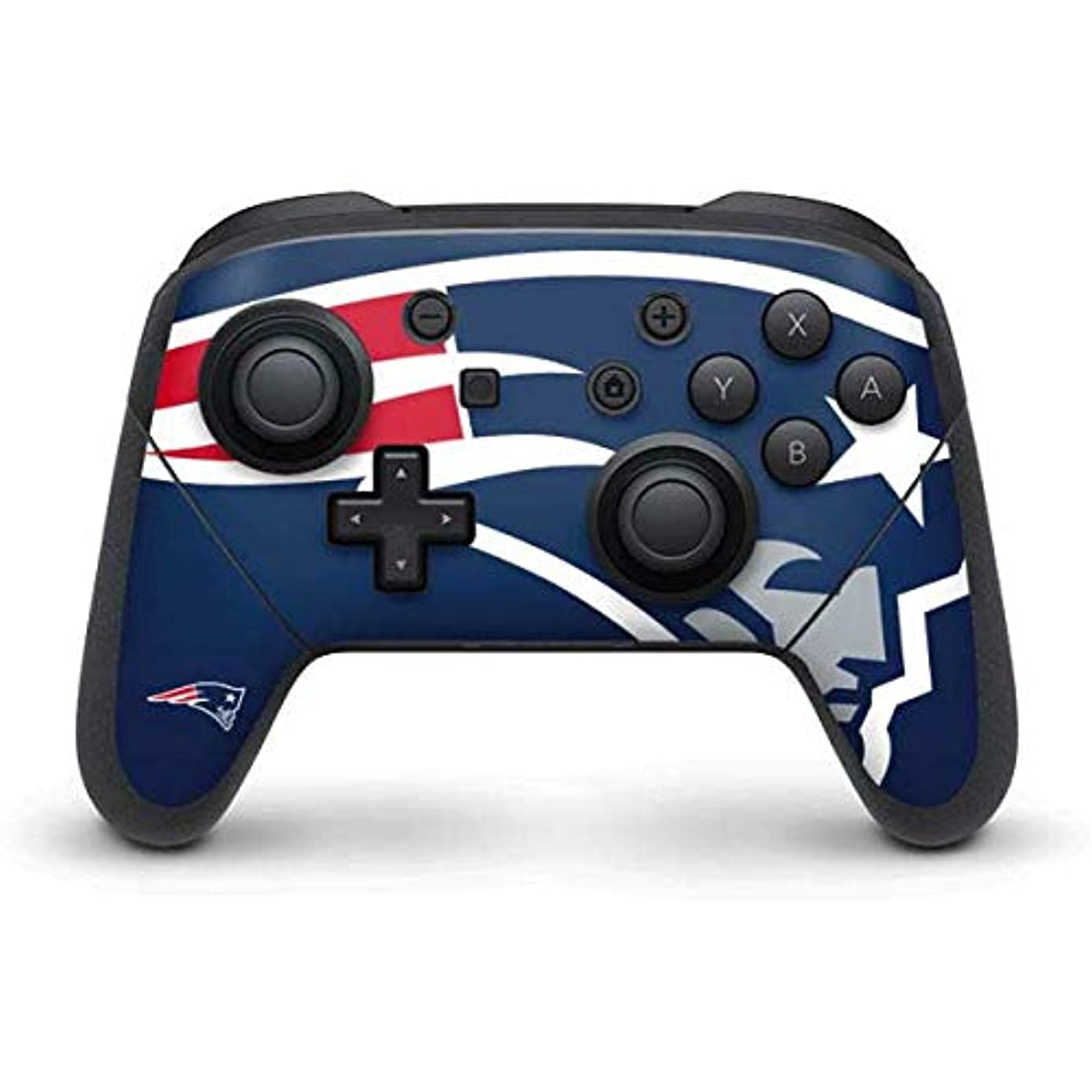 Skinit New England Patriots Large Logo Nintendo Switch Pro Controller Skin - Officially Licensed NFL Gaming Decal - Ultra Thin, Lightweight Vinyl Decal Protection