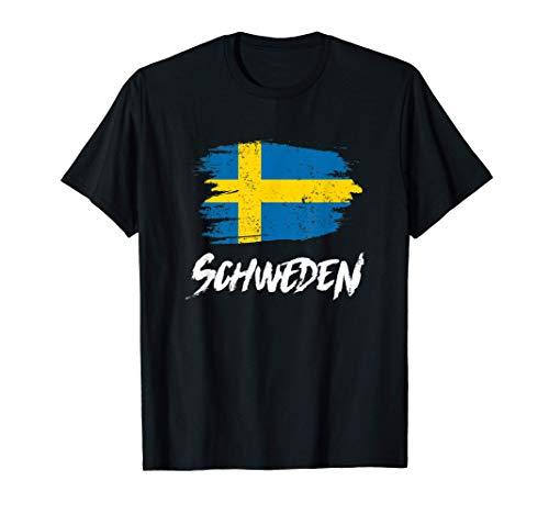 Schweden Flagge Sweden Schwedische Fahne Urlaub Geschenk T-Shirt