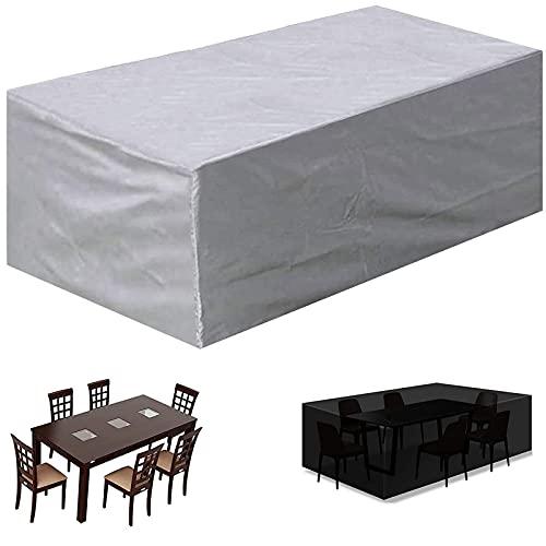 Schutzhülle für Gartenmöbel Wasserdicht Polyester Abdeckplane Schutzhülle fürTisch Stühle Sitzgruppen Sitzgarnituren - 140x130x60cm(LxWxH)