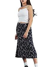 Dames Boho hart-print harajuku rok hoge taille A lijn stijlvolle swing lange midi rokken Y2K Slim Fit Dailywear