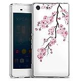 DeinDesign Coque en Silicone Compatible avec Sony Xperia M5 Etui Silicone Coque Souple Fleurs de...
