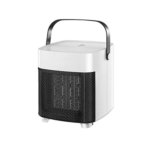 HDCDKKOU Mini Home Portable Ceramic Space Heater with Two Heat Settings Tip-Over Overheat Protection Electric Heating for Small Room Office and Home 1200W
