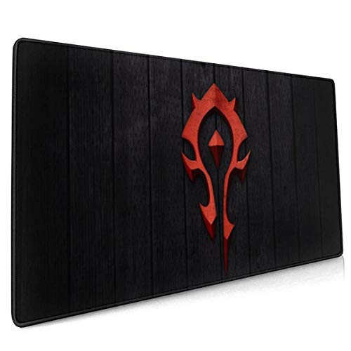 World of Warcraft Horde Mouse Pad Rectangle Non-Slip Rubber Electronic Sports Oversized Large Mousepad Gaming Dedicated,for Laptop Computer & PC 15.8X35.4 Inch