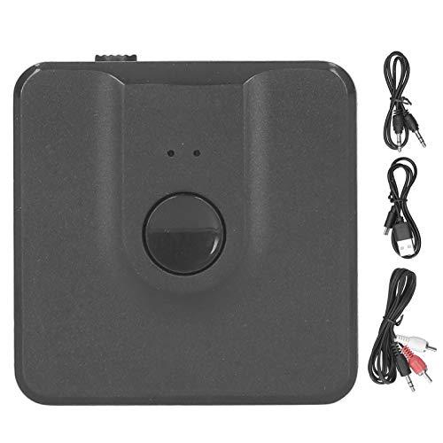 Xuzuyic Transmisor Receptor Bluetooth 5.0 2 en 1, duración de la batería de Aproximadamente 6 a 8 Horas, Adaptador de Audio inalámbrico, computadora, teléfono móvil, TV, Altavoz para automóvil